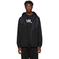 Y 3 Black Sateen Track Jacket