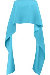 Solace London Pippin Strapless Draped Crepe Top Light Blue