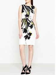 Hobbs Bree Floral Print Layered Dress Ivory