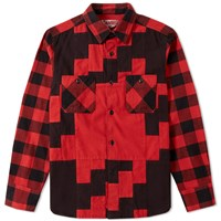 Ganryu Viyella Check Shirt Red