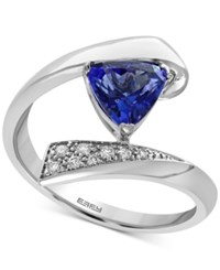 Effy Tanzanite Royale Tanzanite 1 Ct. T.W. And Diamond Accent Bypass Ring In 14K White Gold