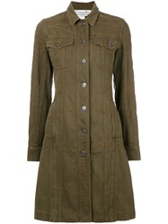 Christian Dior Vintage Stitch Detail Coat Green