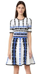 Yigal Azrouel Knit Fit And Flare Dress Optic Multi