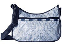 Le Sport Sac Classic Hobo Bag Bandana Lace Cross Body Handbags Blue