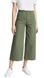 Evidnt Wide Leg Cropped Pants Olive