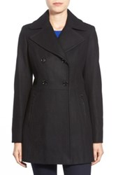 Michael Michael Kors Wool Blend Peacoat Black