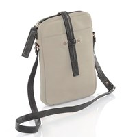 Gia Rodriguez Essentials Crossbody Taupe Charcoal
