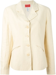 Kenzo Vintage Single Breasted Blazer Nude And Neutrals