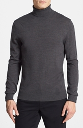 Vince Camuto Merino Wool Turtleneck Charcoal