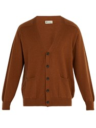 Connolly V Neck Cashmere Cardigan Brown