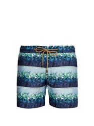 Thorsun Antelope Print Titan Fit Swimshorts Blue