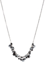 Konplott Waterfalls Necklace Schwarz Antiksilberfarben Black