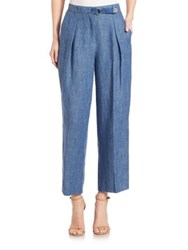 Akris Punto Flint Linen Pants Bleached Denim