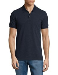 Brooks Brothers Diamond Patterned Polo Shirt Navy