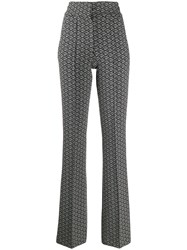 Tommy Hilfiger Monogram Flared Trousers Grey