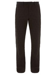 Off White Paperclip Zip Wool Jacquard Trousers Black