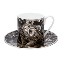 Roberto Cavalli Tropical Jungle Coffee Cup And Saucer Black