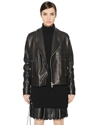 Diesel Black Gold Grained Leather Jacket