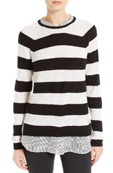 Joie Women's Aisly Faux Layer Cashmere Pullover