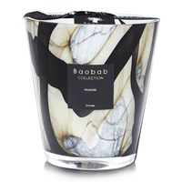 Baobab Stones Marble Scented Candle Limited Edition Black And White