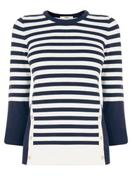 Oasis Nautical Stripe Jumper Navy Ivory
