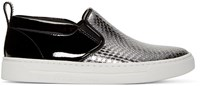 Marc By Marc Jacobs Black And Silver Leather Broome Sneakers