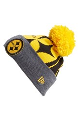 Men's New Era Cap 'Logo Whiz Pittsburgh Steelers' Pompom Knit Beanie