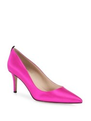 Sarah Jessica Parker Fawn Satin Point Toe Pumps Candy Pink Twilight