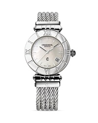 Charriol Alexandre C Small Round Steel Watch 26Mm Silver