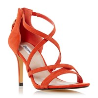 Dune Malibu Cross Strap High Heel Sandals Orange