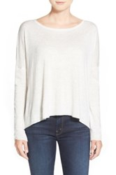 Splendid Scoop Neck High Low Sweater White