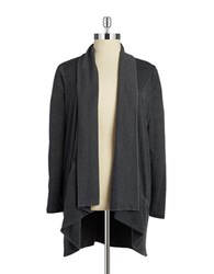 Marc New York Open Front Knit Cardigan Smoke