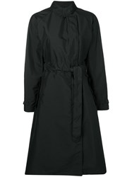 Fay Belted Trench Coat Black