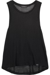 Koral Cropped Stretch Modal Mesh Tank Black