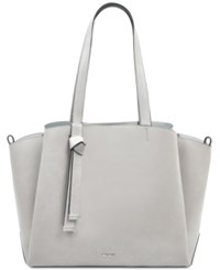 Nine West Gaya Tote Mist Soft Metallic Silver Dk Natural