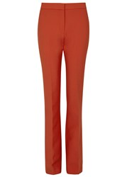 Victoria Beckham Red Flared Trousers