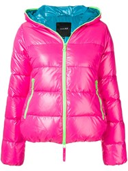 Duvetica Hooded Puffer Jacket Pink