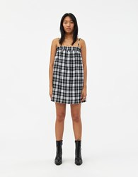 Which We Want Falka Dress In Black Plaid