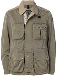 Blauer Cargo Pocket Military Jacket Green