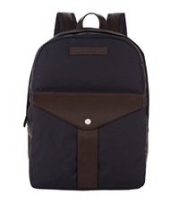 Brunello Cucinelli Leather Trim Backpack Navy