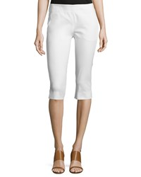 Donna Karan Mid Rise Capri Pants White Women's