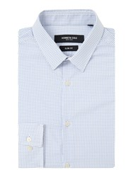 Kenneth Cole Men's Journal Square Print Shirt White
