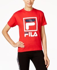 Fila Kate Logo T Shirt Chinese Red