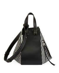 Loewe Hammock Tweed Small Satchel Bag Black White