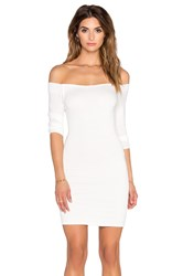 De Lacy Amelia Off Shoulder Dress White