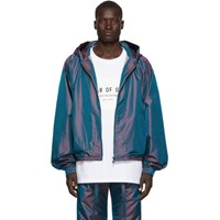 Fear Of God Blue Nylon Iridescent Full Zip Jacket