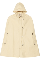 Maison Kitsune Military Hester Hooded Cotton Canvas Cape