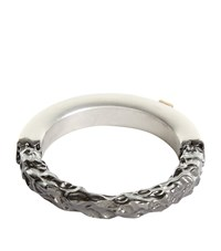 Valentino Unfinished Ring Unisex Silver