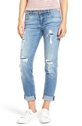 Kut From The Kloth Women's Catherine Ripped And Repaired Boyfriend Jeans