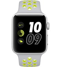 Apple Series 2 Silver And Volt 42Mm Watch Nike Silver Volt